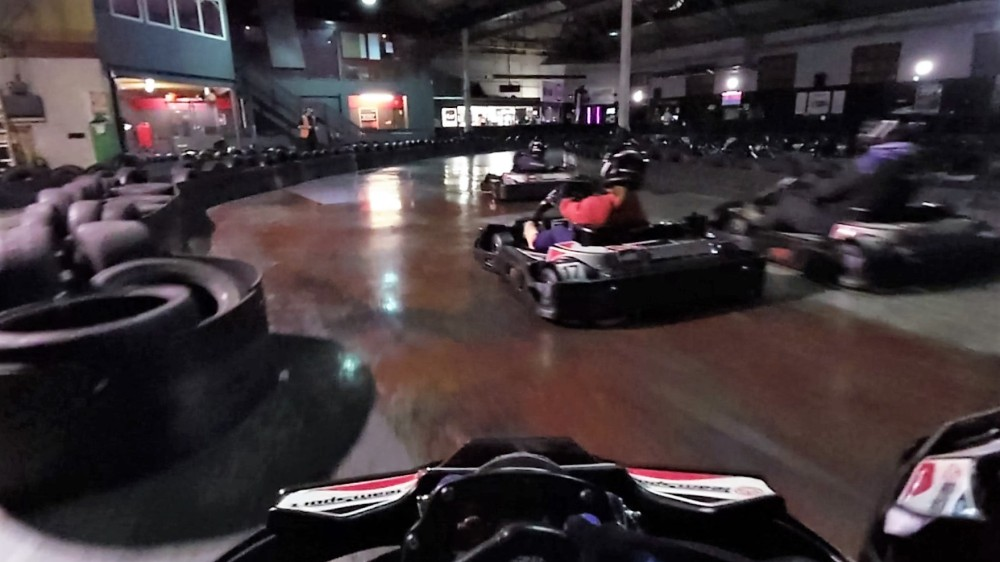 Racing with rookie drivers just means new people crashing into you (2/6)